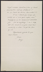 [George L. Stout letter to W. G. Constable verso 1]