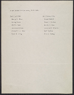 [Paul Sachs' list of potential Monuments Men page 1]