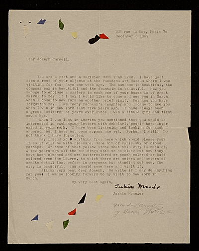 [Jackie Monnier letter to unidentified recipient]