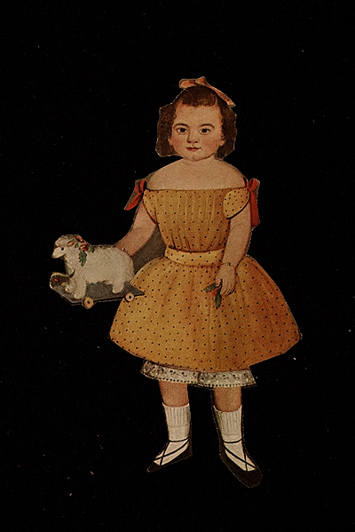 [Joseph Cornell art source material clippings of children]