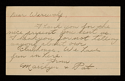 [Marilyn and Pat letter to Joseph Cornell]