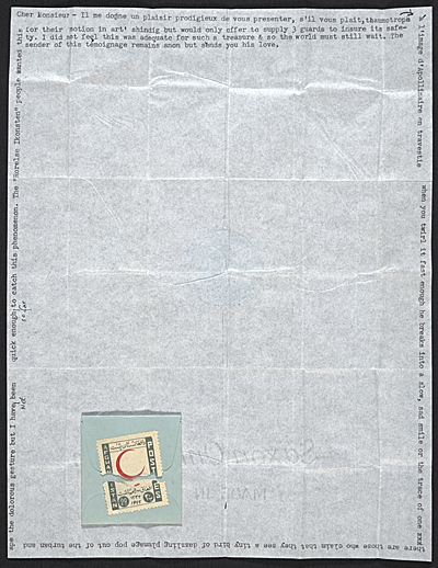 Joseph Cornell, New York, N.Y. letter to Marcel Duchamp, Flushing, N.Y.