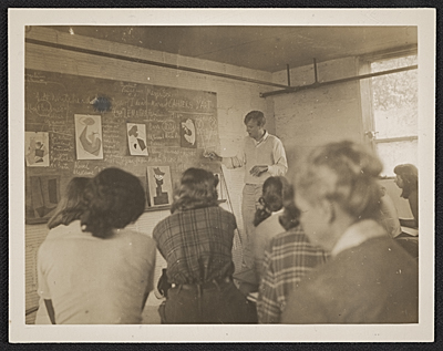 [Robert Motherwell teaching at Black Mountain Rock]