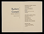 [Robert Cornell Memorial Exhibition 1]