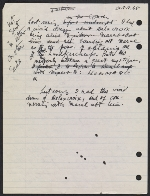 [Draft of condolence letter from Joseph Cornell to Teeny Duchamp page 1]