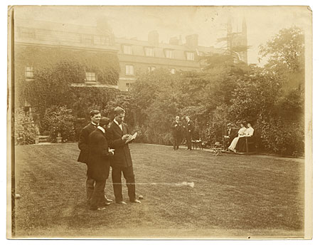 [Arthur Covey and others at a lawn party.]