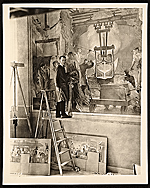 Arthur Sinclair Covey painting mural for Kohler Company