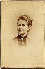 Louise Cox as a young girl