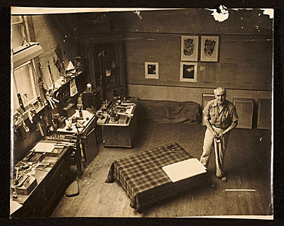 [Konrad Cramer in his studio]