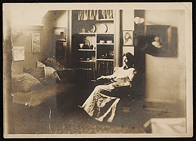 Florence J. Ballin in her studio at 30 W. 59th Street
