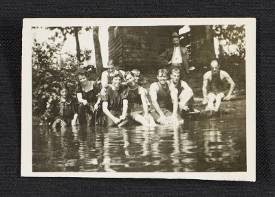 [Swimming party in Woodstock, New York]