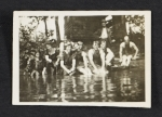 Swimming party in Woodstock, New York