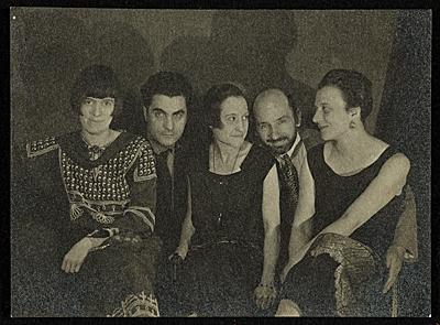 [Louise Norton-Varèse, Edgard Varèse, Suzanne Duchamp, Jean Crotti, and Mary Reynolds]