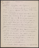 Marcel Duchamp letter to Jean Crotti and Suzanne Duchamp