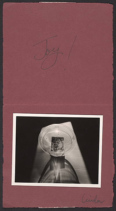 [Linda Connor Christmas card to Imogen Cunningham]