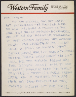 Merle Armitage letter to Imogen Cunningham