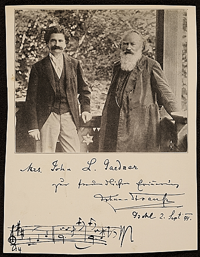 Johann Strauss II and Johannes Brahms