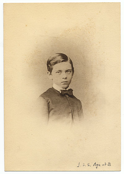 Portrait of John Singer Sargent as a boy