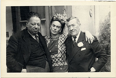 [Frida Kahlo and Diego Rivera with Chester Dale]