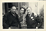 Frida Kahlo and Diego Rivera with Chester Dale