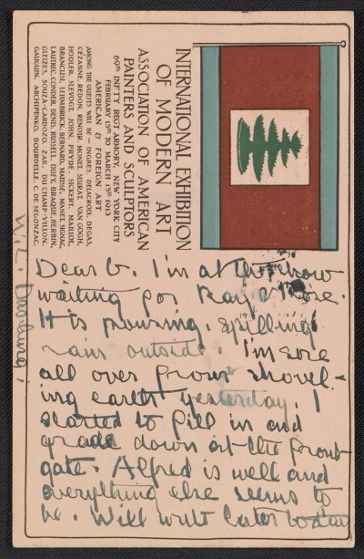 [Andrew Michael Dasburg postcard to Grace Mott Johnson]