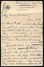 [Grace Mott Johnson letter to Andrew Dasburg ]