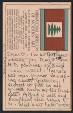 Andrew Michael Dasburg postcard to Grace Mott Johnson