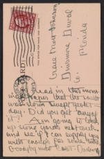 [Andrew Michael Dasburg postcard to Grace Mott Johnson verso 1]