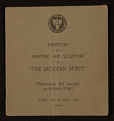 [The Modern Ppirit: Exhibition of Painting and Sculpture]