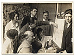 [Hans Hofmann and students at the Hofmann School in Munich ]
