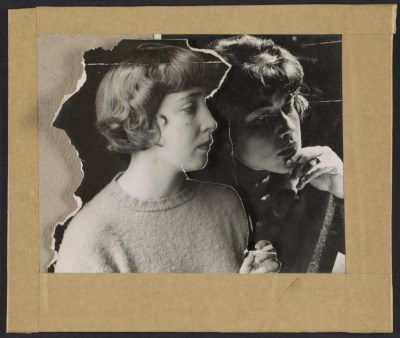 Collage of Joan Brown and Jay DeFeo