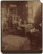 William Sartain in his studio