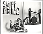 [Dorothy Dehner with some of her sculptures]
