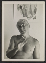 Willem de Kooning with a cigarette