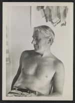 Willem de Kooning seated