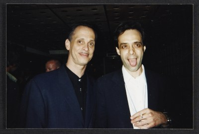 [John Waters and Colin de Land]