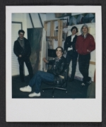 Four unidentified men in an artists studio