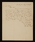 [John James Abert letter to G. P. A. (George Peter Alexander) Healy 1]