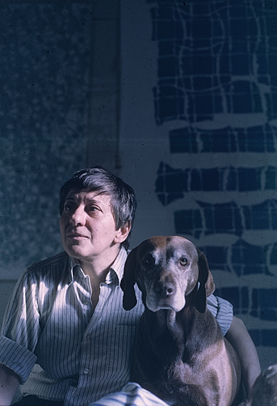 Helen DeMott with her dog