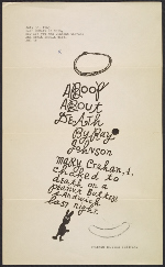 Ray Johnson mail art to Helen DeMott