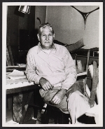 Jose de Rivera in his studio