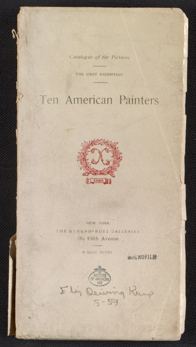 [Ten American painters: the first exhibition, catalogue of the pictures]