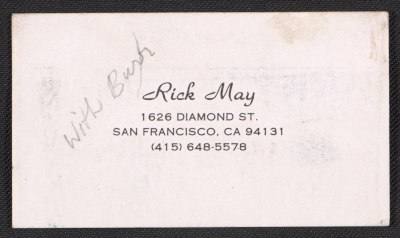 Rick Mays business card