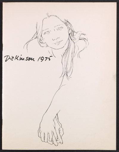 Catalog for Eleanor Dickinson: line drawing exhibition