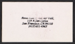 [Anna-Lisa van der Valk's business card ]