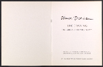 [Catalog for Eleanor Dickinson: line drawing exhibition pages 1]