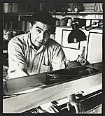 Dominic Di Mare at the Macomber loom