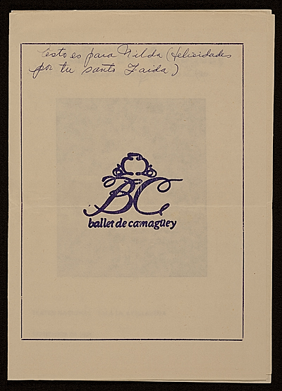 [Program for Ballet de Camaguey]