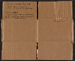Section of cardboard box with price code key for Winslow Homer paintings