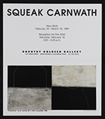 Dorothy Goldeen Gallery announcement for Squeak Carnwath exhibition